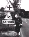 A civilian once more visiting the village of Axford